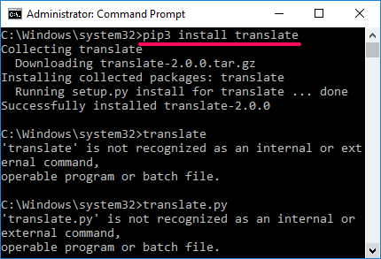 translate install