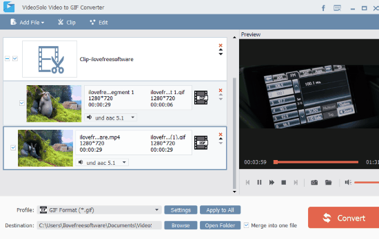 videosolo video to gif converter software