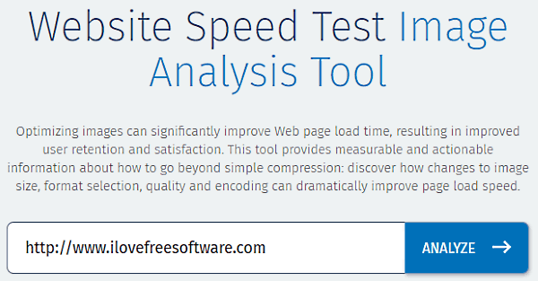 Website Image Analysis Test Tool