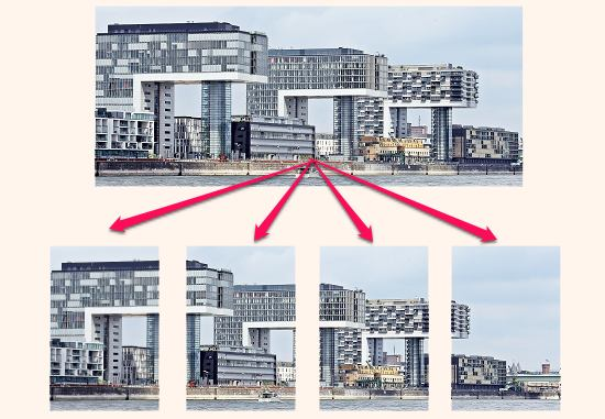 How to Split Panorama Image