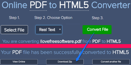 4 Free Online PDF to HTML 5 Converters