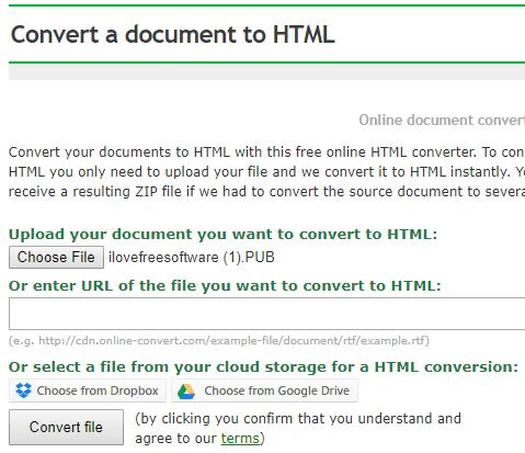 Online HTML Converter