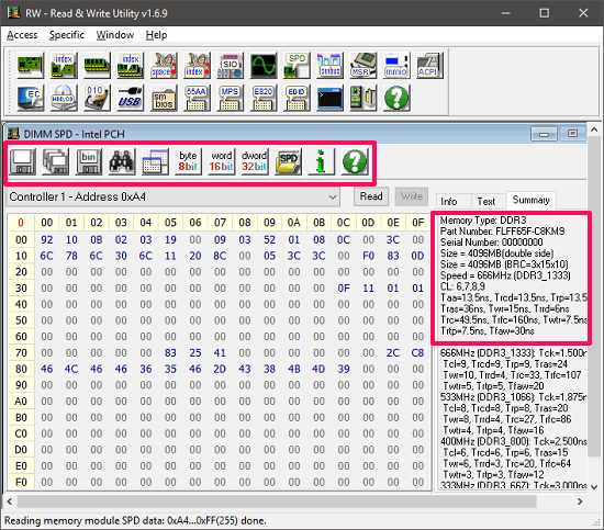 Free Software to Change Contents of SPD EEPROM on Memory