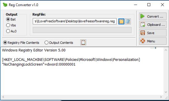 Free Registry Converter Software, Convert Reg To BAT, VBScript, Au3