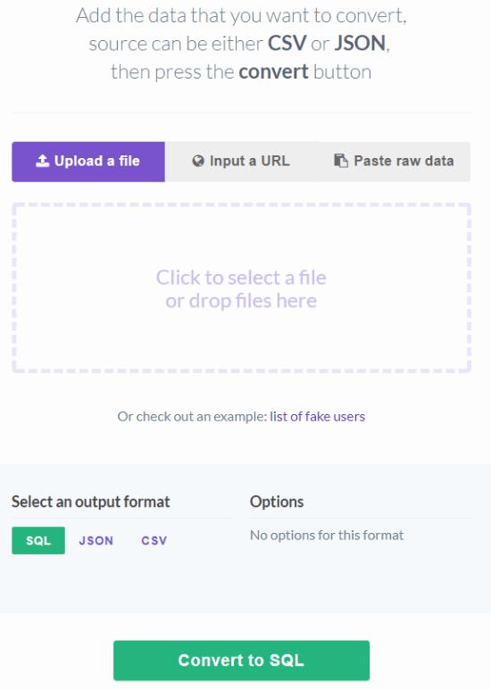Sqlify interface
