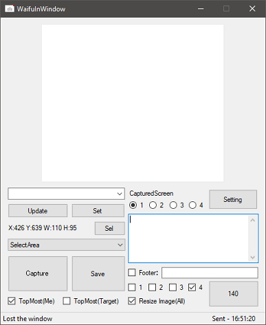 Waifuinwindow interface