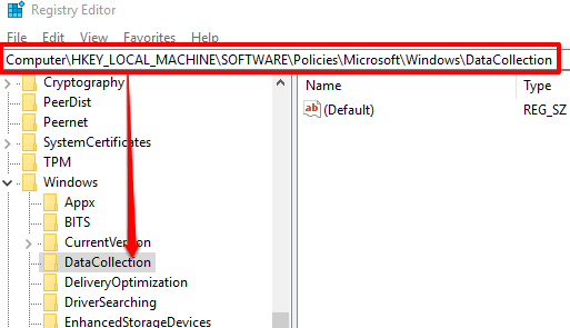 access datacollection key