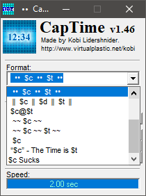 captime time format