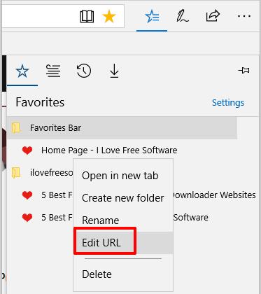 click edit url option