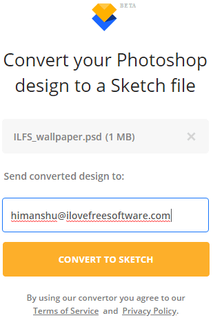 convert psd to sketch online