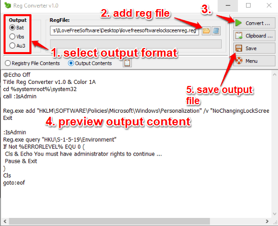 convert reg to bat or other supported format