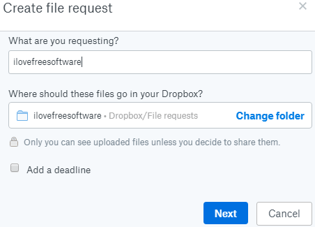 create file request