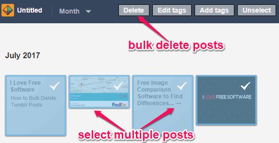 How to Bulk Delete Tumblr Posts