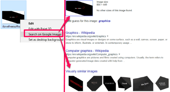 how to perform google image search from windows context menu