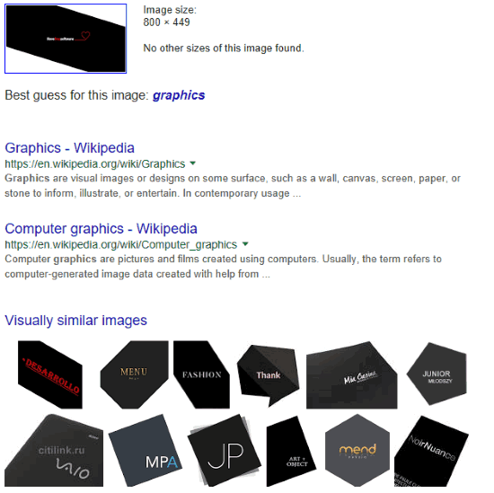 image search result in default browser
