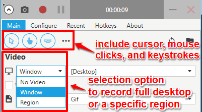 record desktop screen