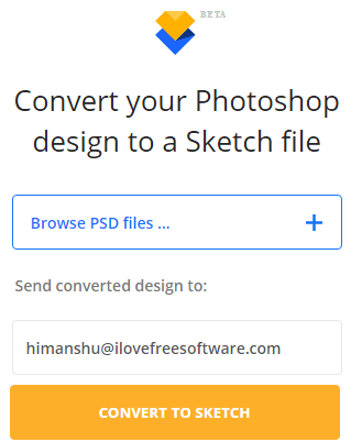 select psd files to convert into sketch files