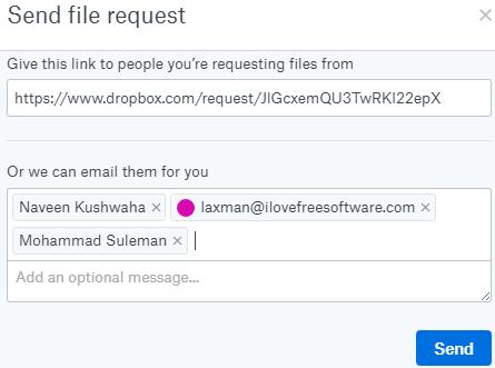 send file request