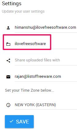specify google drive folder