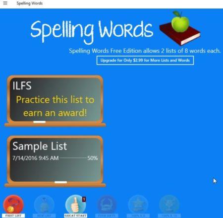 spelling words free new list