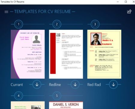 Free Windows 10 Resume Builder App with Preset Resume, CV ...