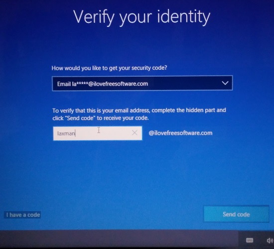 verify your identify