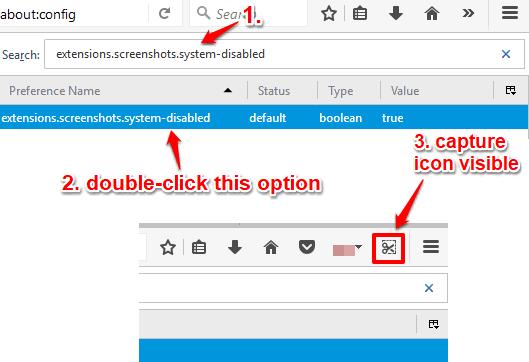 activate screenshot capture feature