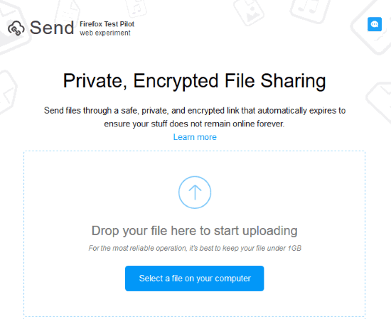 add a file to upload