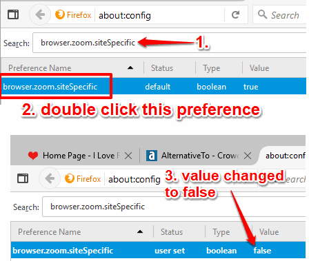 change value of browserzoomsitespecific to false