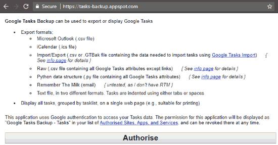 click authorise button