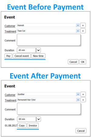 Events - Salon Management Software