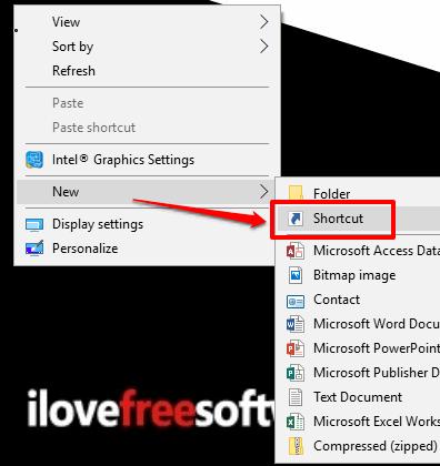 create shortcut