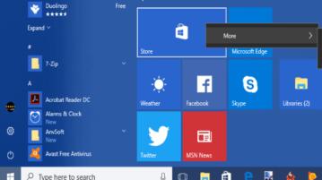 disable resizing and unpinning tiles in windows 10 start menu