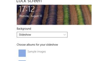 disable slideshow for lock screen in windows 10