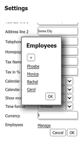 Settings - Salon Appointment Software