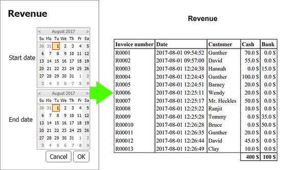 Revenue Report - Salon Software
