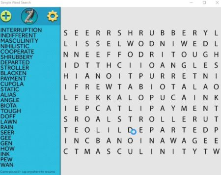simple word search home