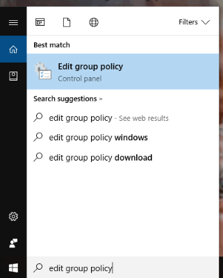 start group policy