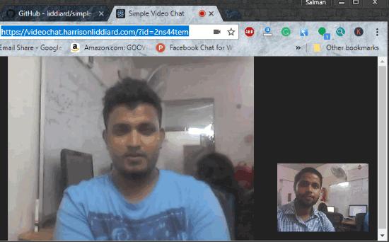 peer to peer video chat