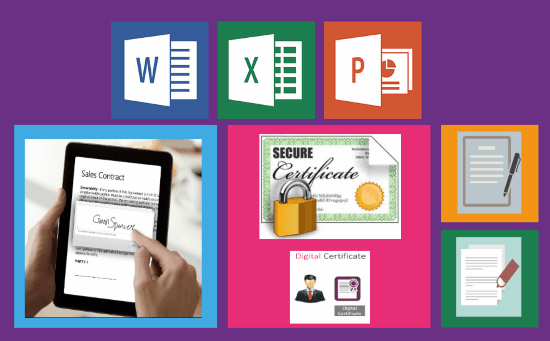 Add Change and Remove Signatures in Word Excel PowerPoint