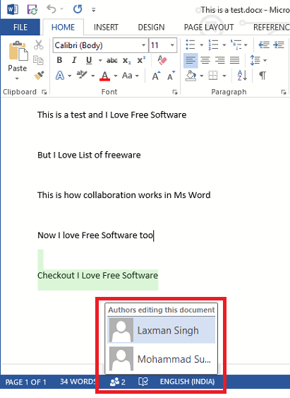 Collaborate in Word on Windows, Share Documents