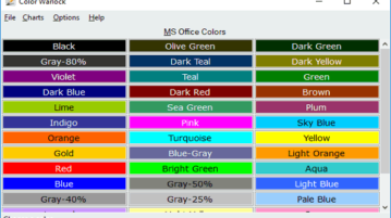 Color Chart Maker Software with Color Picker, Copy Hex Color Codes