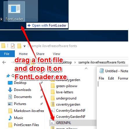 FontLoader software