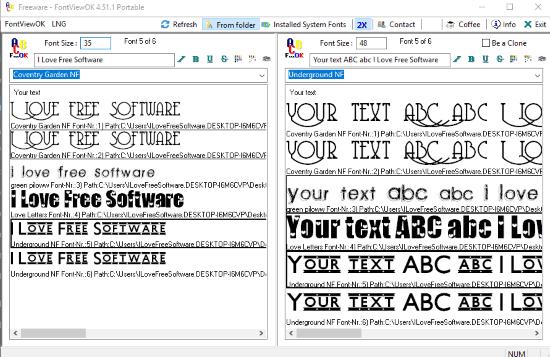 FontViewOK- interface