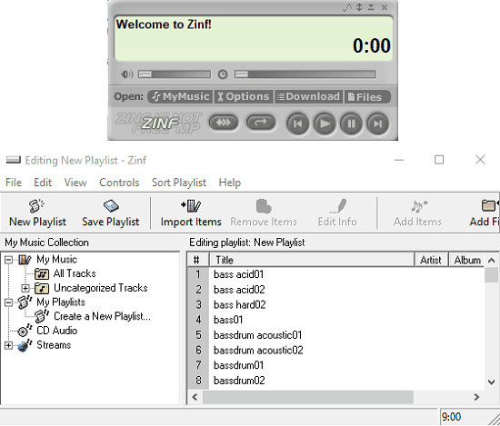 Free Music Player with Shoutcast, Icecast, and HTTP