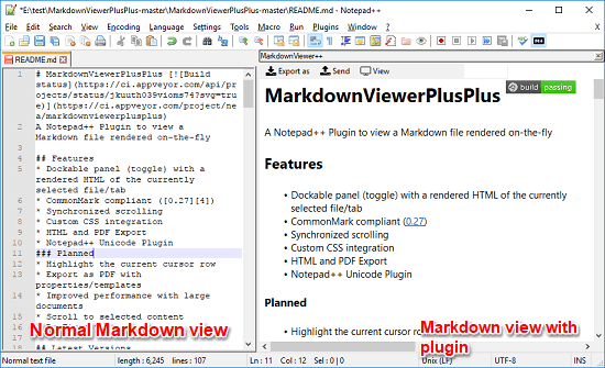 How to View Markdown File in Notepad++ Export as PDF HTML