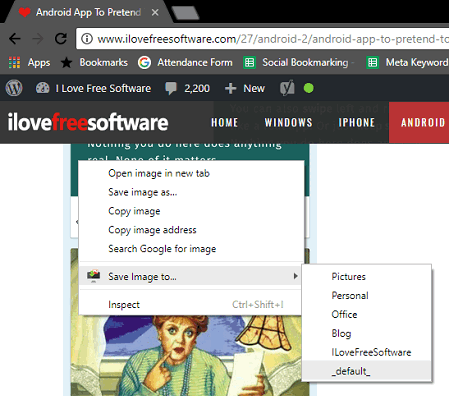 Save Images to Custom Locations from the Right Click Menu in Chrome