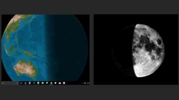 Simulate Earth Moon Illumination by Sun on Windows Desktop Globos