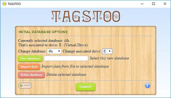 Tagstoo database specify