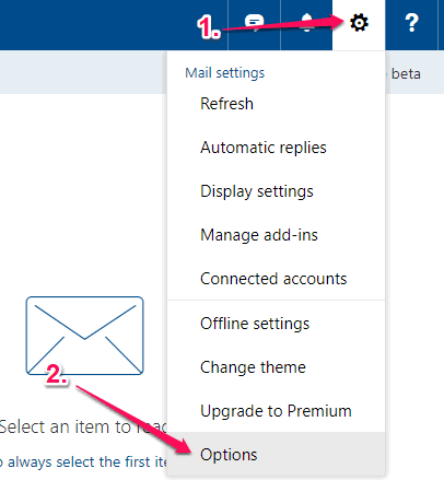 click settings and then options